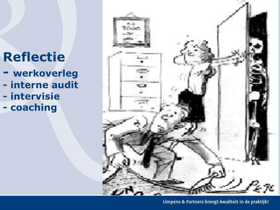 Reflectie - werkoverleg - interne audit - intervisie - coaching