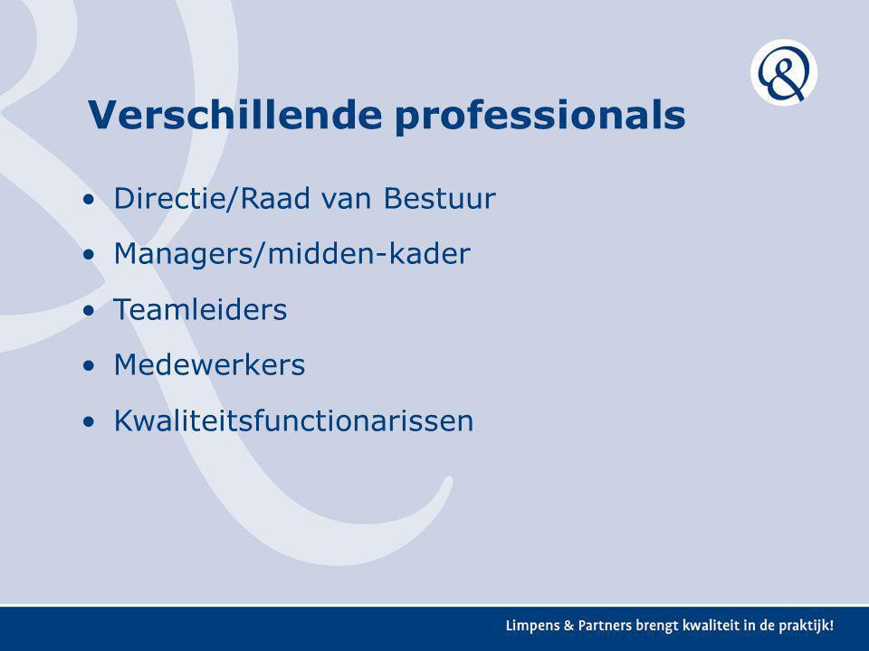 Verschillende professionals