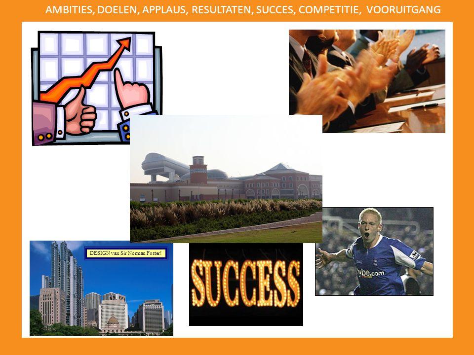 AMBITIES, DOELEN, APPLAUS, RESULTATEN, SUCCES, COMPETITIE, VOORUITGANG