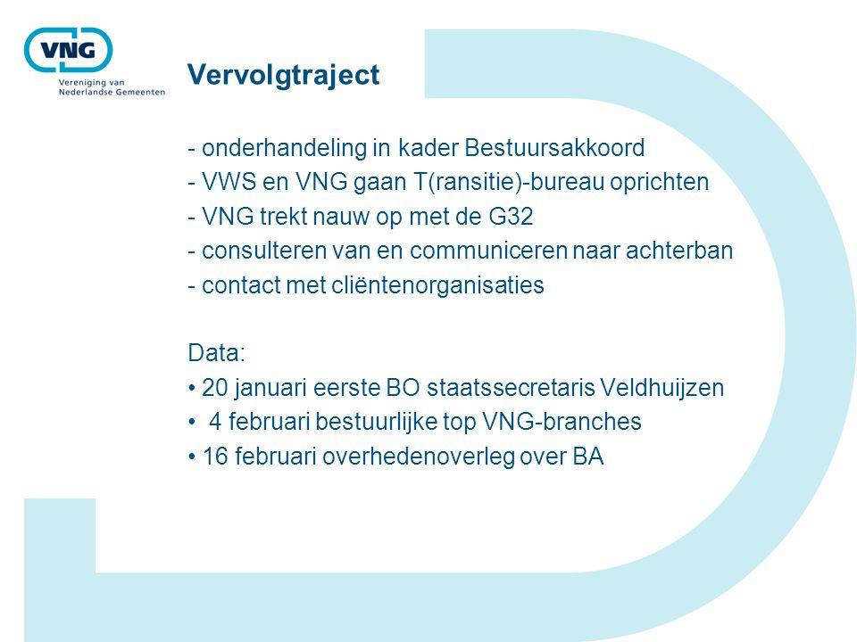 Vervolgtraject - onderhandeling in kader Bestuursakkoord