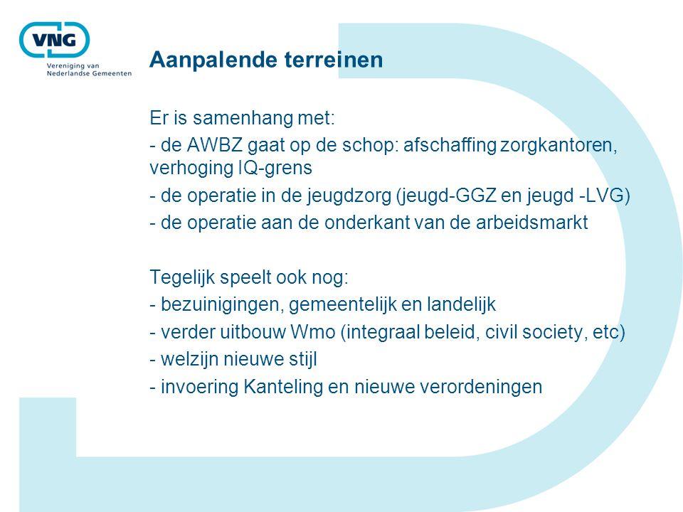 Aanpalende terreinen Er is samenhang met: