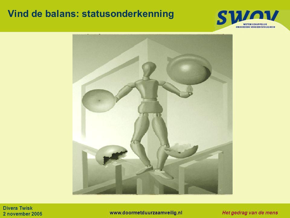 Vind de balans: statusonderkenning