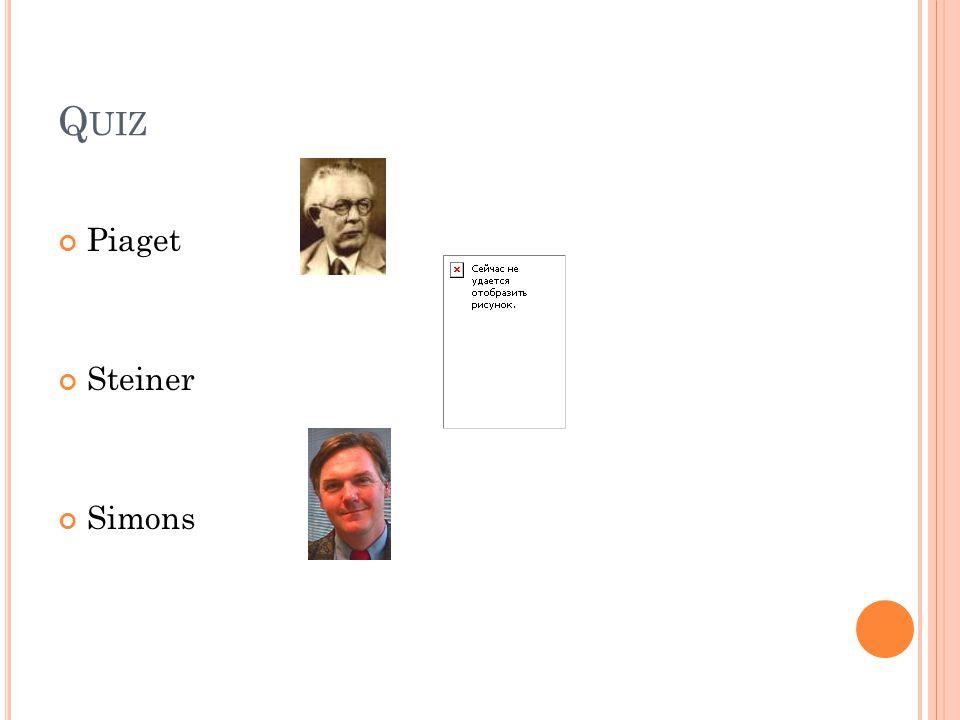 Quiz Piaget Steiner Simons