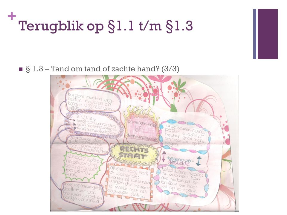 Terugblik op §1.1 t/m §1.3 § 1.3 – Tand om tand of zachte hand (3/3)