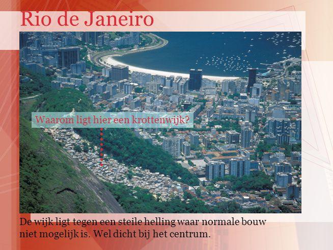 Rio de Janeiro Waarom ligt hier een krottenwijk