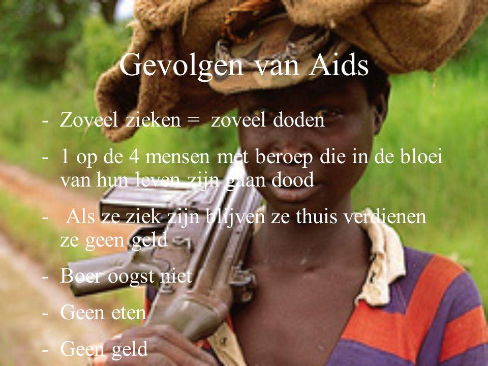 Gevolgen van Aids Zoveel zieken = zoveel doden
