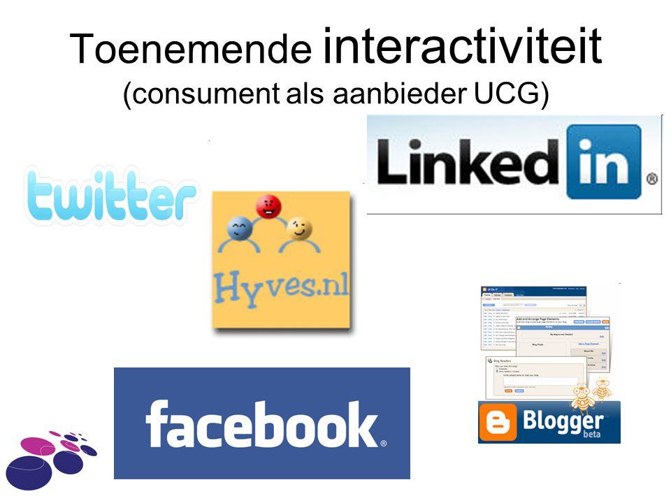 Toenemende interactiviteit (consument als aanbieder UCG)