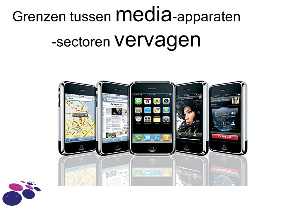 Grenzen tussen media-apparaten -sectoren vervagen