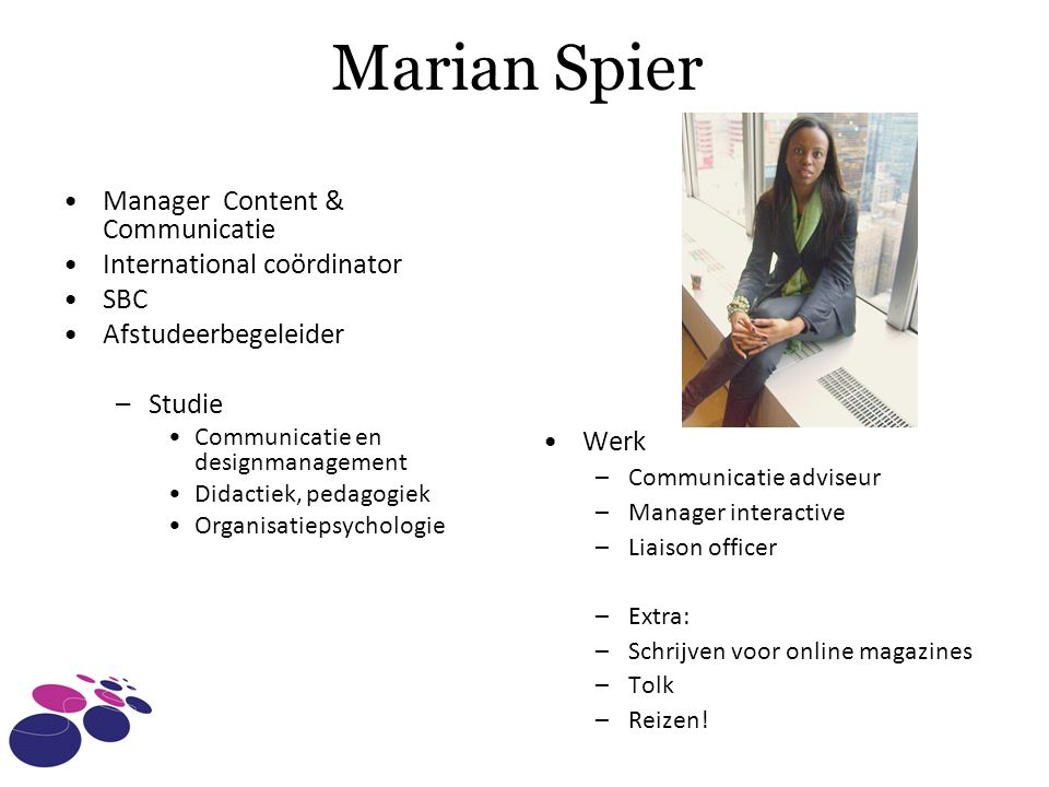 Marian Spier Manager Content & Communicatie International coördinator