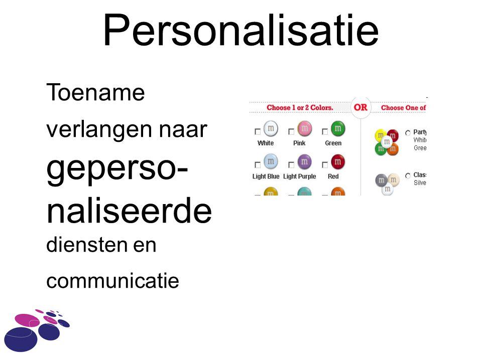 Personalisatie naliseerde diensten en communicatie