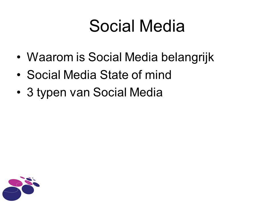 Social Media Waarom is Social Media belangrijk