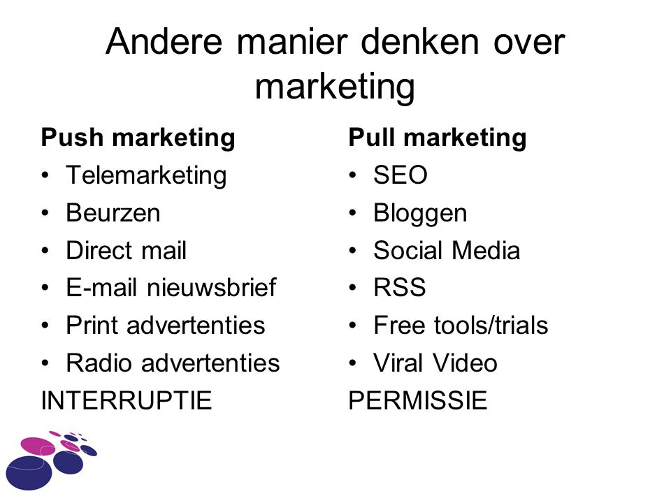 Andere manier denken over marketing