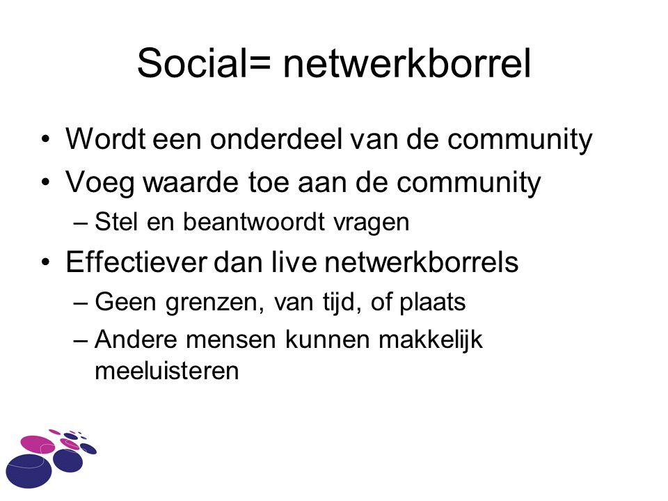 Social= netwerkborrel