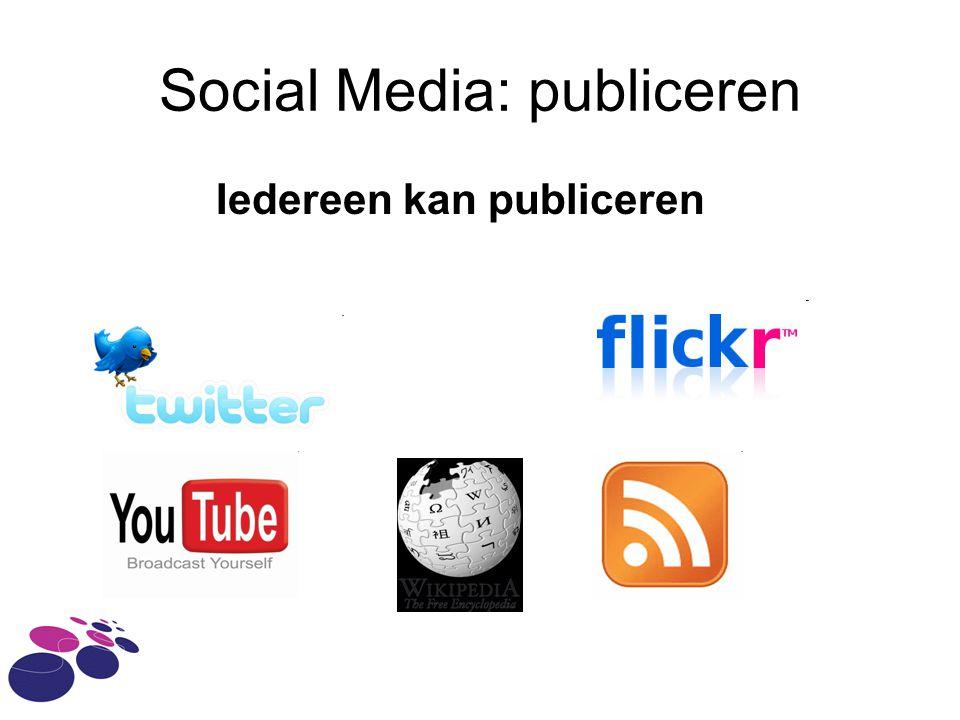 Social Media: publiceren
