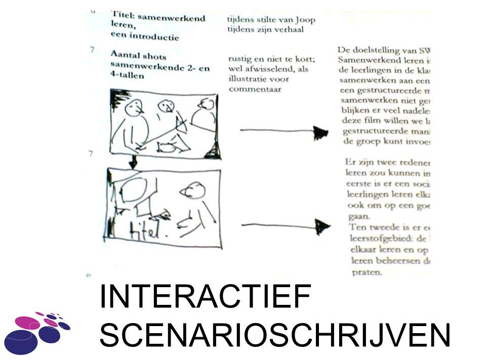 INTERACTIEF SCENARIOSCHRIJVEN