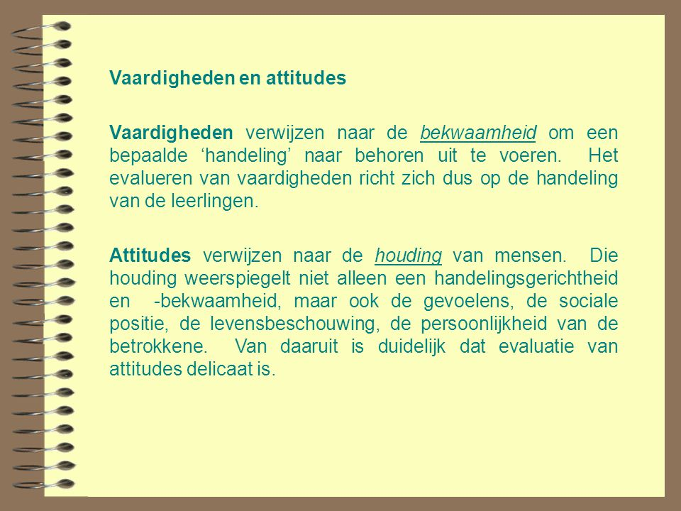 Vaardigheden en attitudes