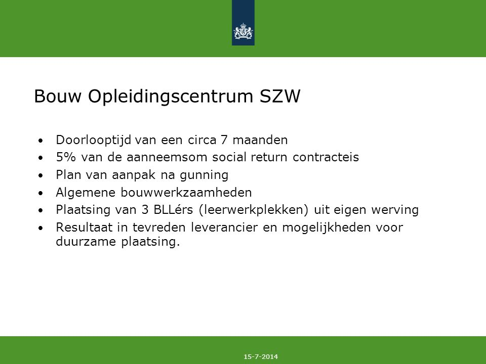 Bouw Opleidingscentrum SZW