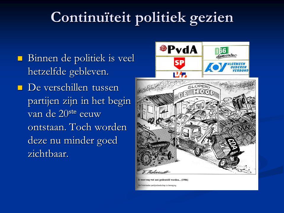 Continuïteit politiek gezien