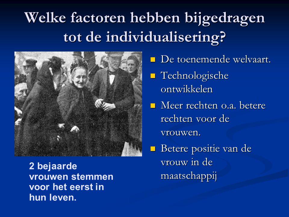 Welke factoren hebben bijgedragen tot de individualisering