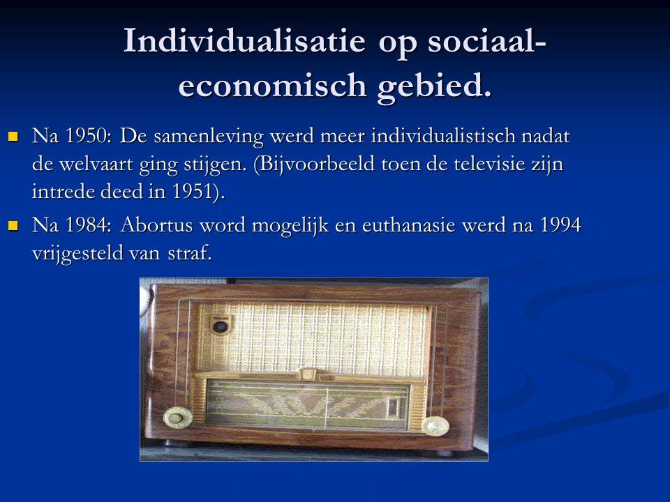 Individualisatie op sociaal-economisch gebied.