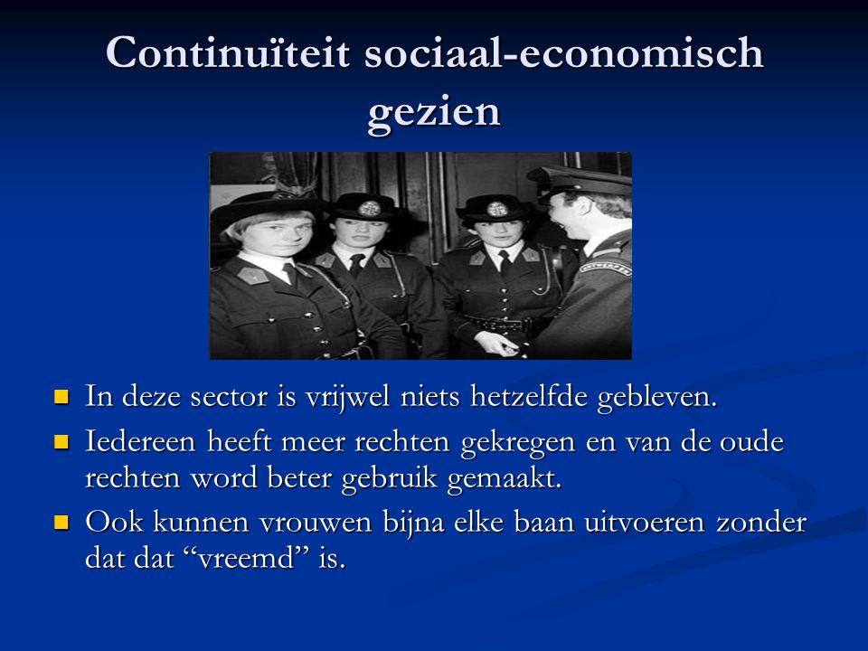 Continuïteit sociaal-economisch gezien