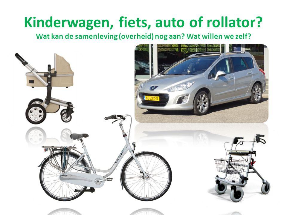 Kinderwagen, fiets, auto of rollator