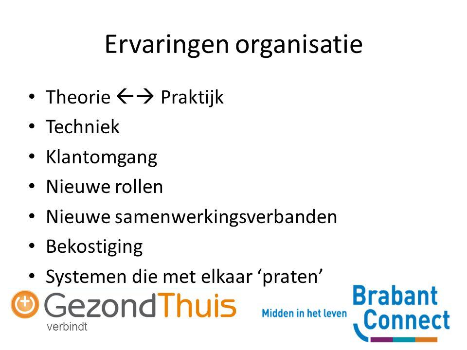 Ervaringen organisatie