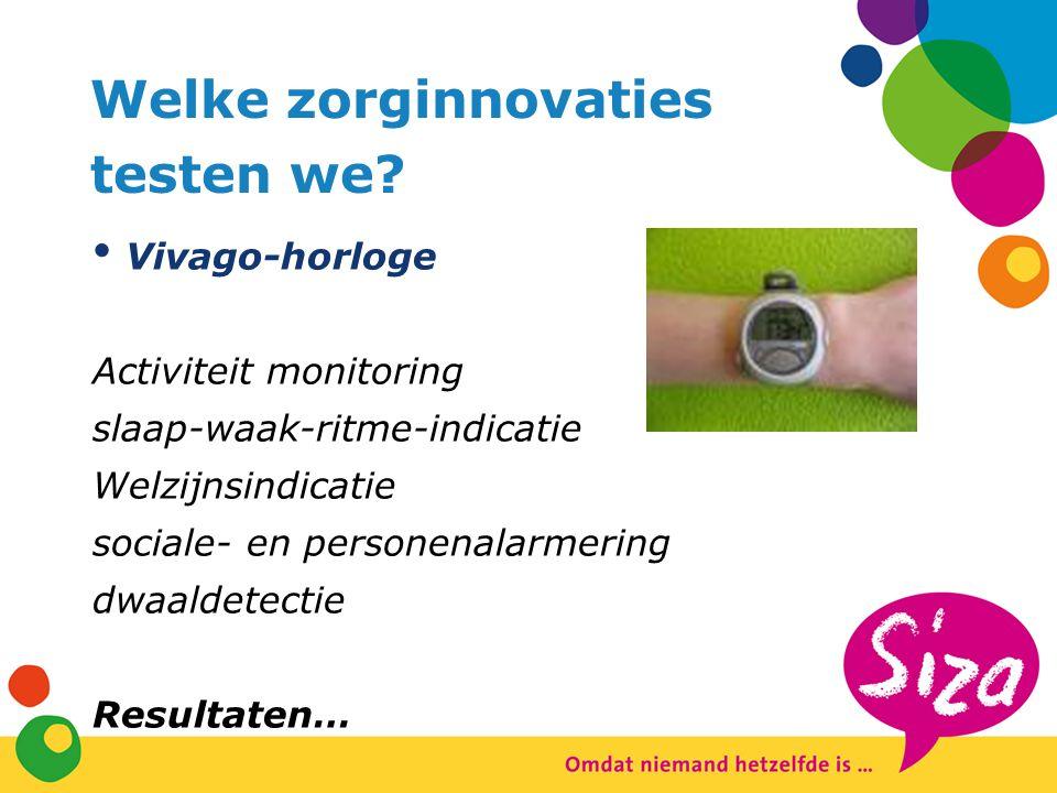 Welke zorginnovaties testen we Vivago-horloge Activiteit monitoring