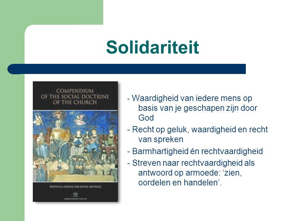 Solidariteit - Recht op geluk, waardigheid en recht van spreken