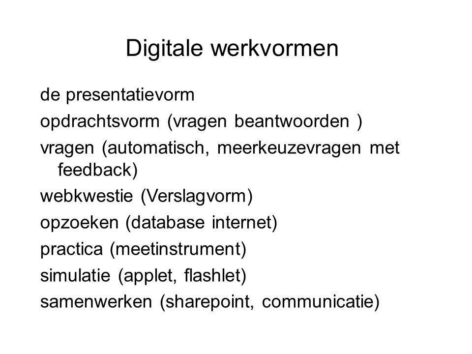 Digitale werkvormen de presentatievorm