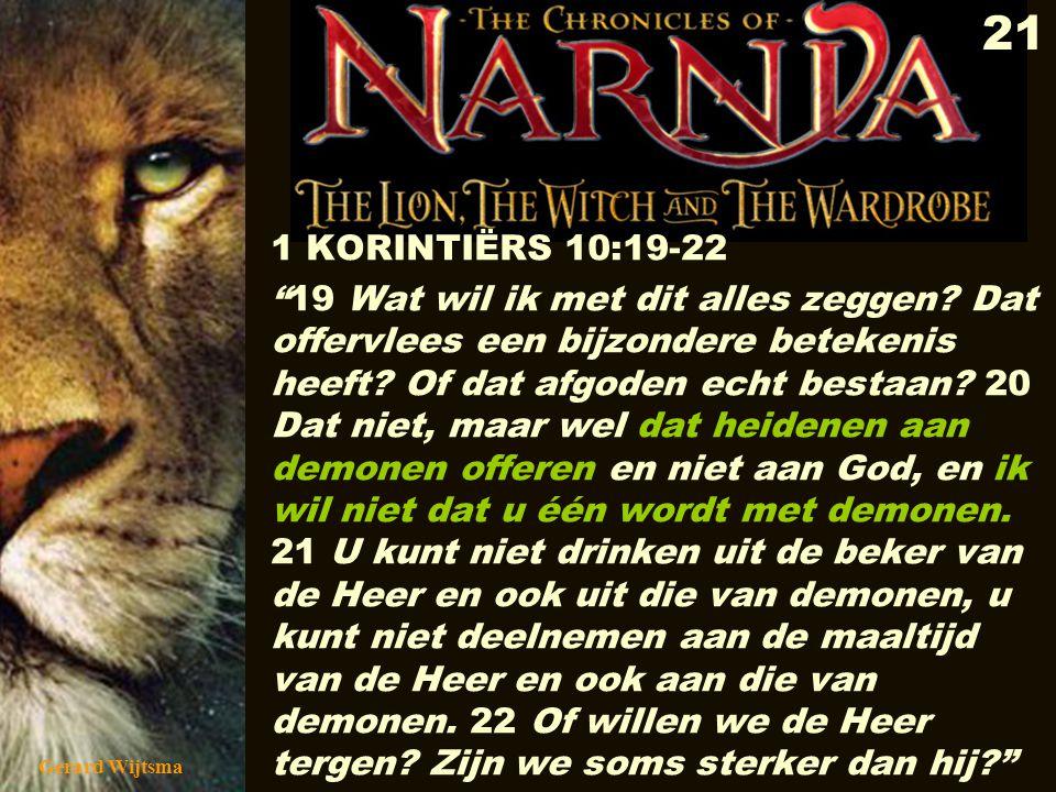 1 KORINTIËRS 10:19-22
