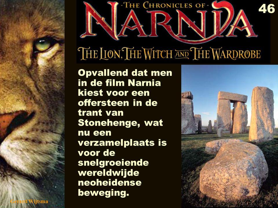 Opvallend dat men in de film Narnia kiest voor een offersteen in de trant van Stonehenge, wat nu een verzamelplaats is voor de snelgroeiende wereldwijde neoheidense beweging.