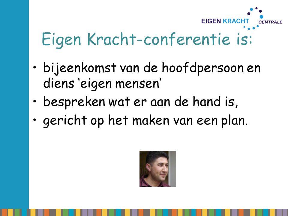 Eigen Kracht-conferentie is: