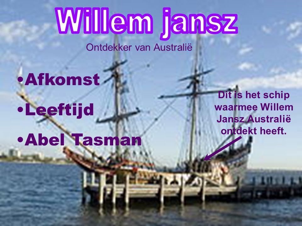 Dit is het schip waarmee Willem Jansz Australië ontdekt heeft.