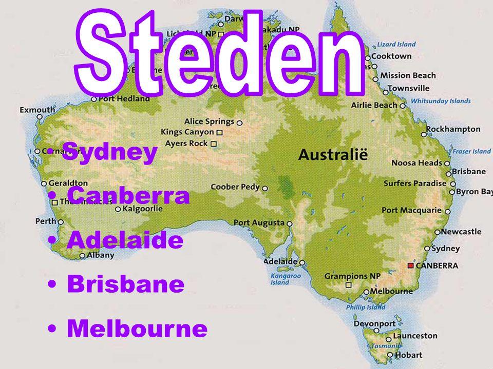 Steden Sydney Canberra Adelaide Brisbane Melbourne