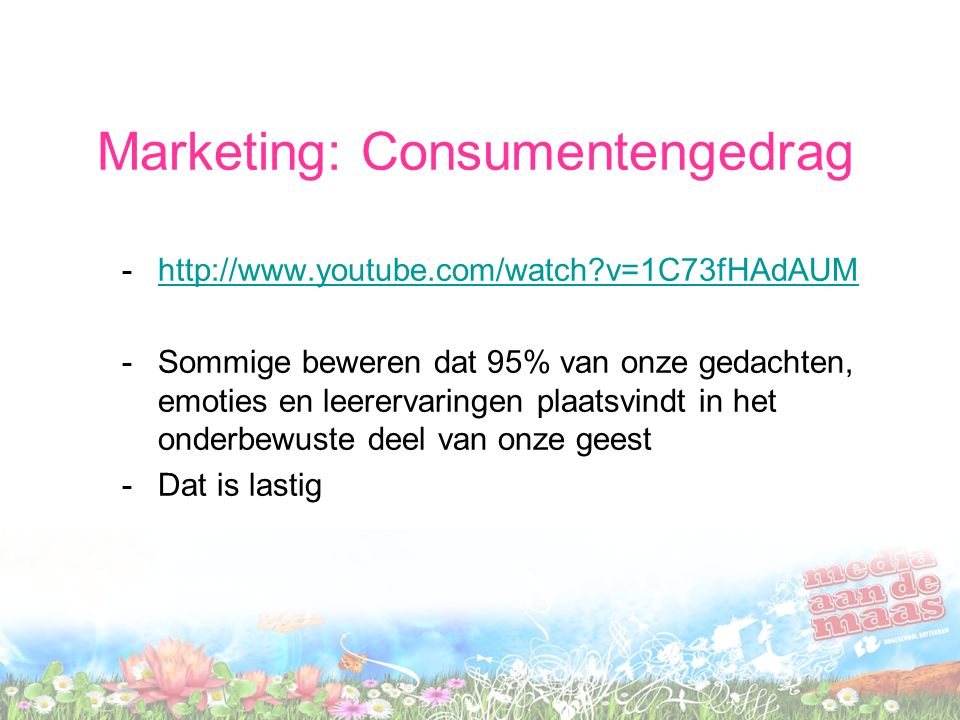 Marketing: Consumentengedrag
