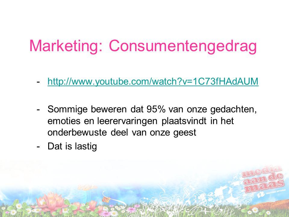 Marketing: Consumentengedrag