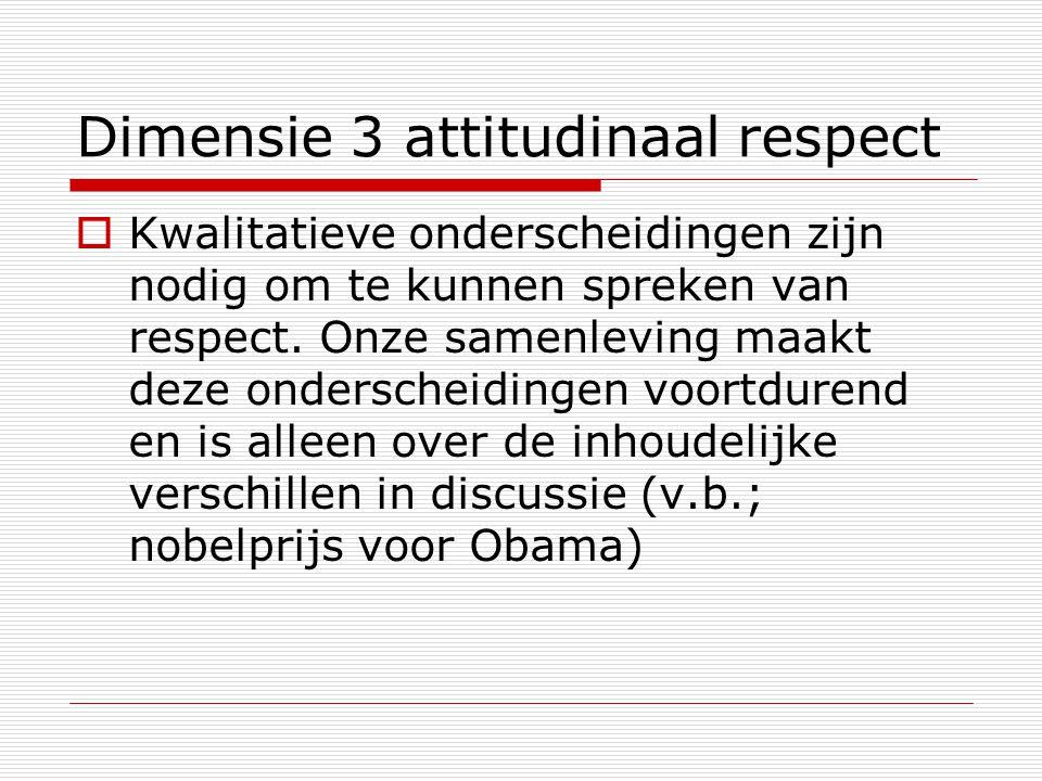 Dimensie 3 attitudinaal respect