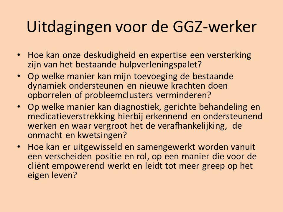 Uitdagingen voor de GGZ-werker