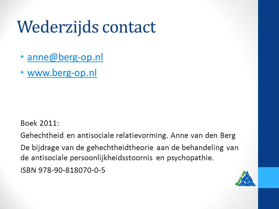Wederzijds contact anne@berg-op.nl www.berg-op.nl Boek 2011: