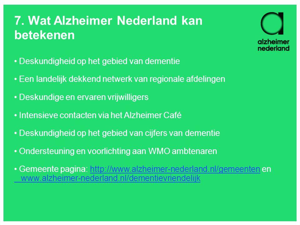 7. Wat Alzheimer Nederland kan betekenen