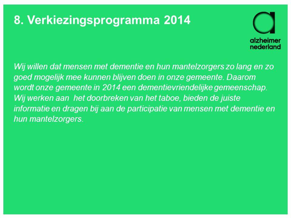 8. Verkiezingsprogramma 2014