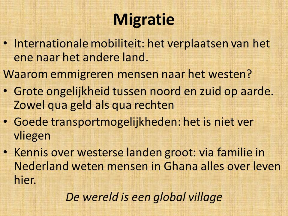 De wereld is een global village