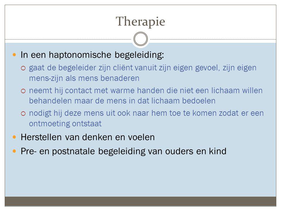 Therapie In een haptonomische begeleiding: