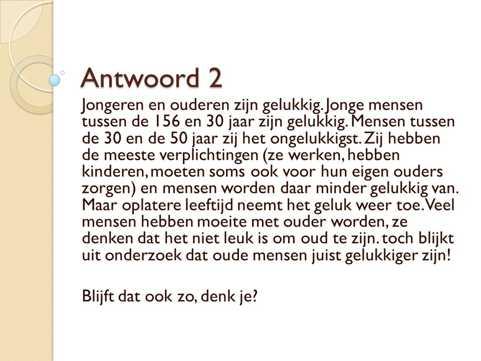 Antwoord 2