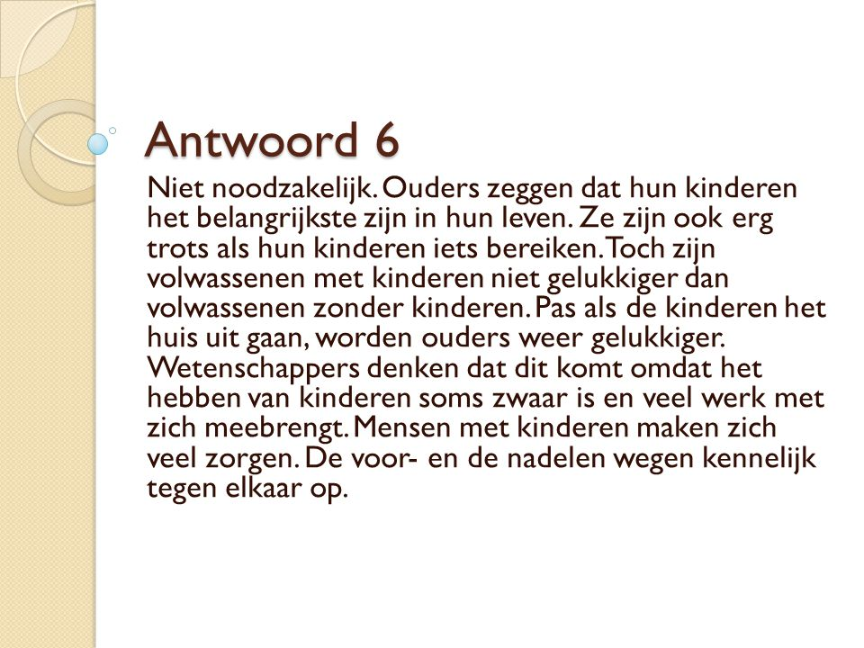 Antwoord 6