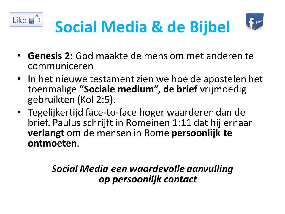 Social Media & de Bijbel
