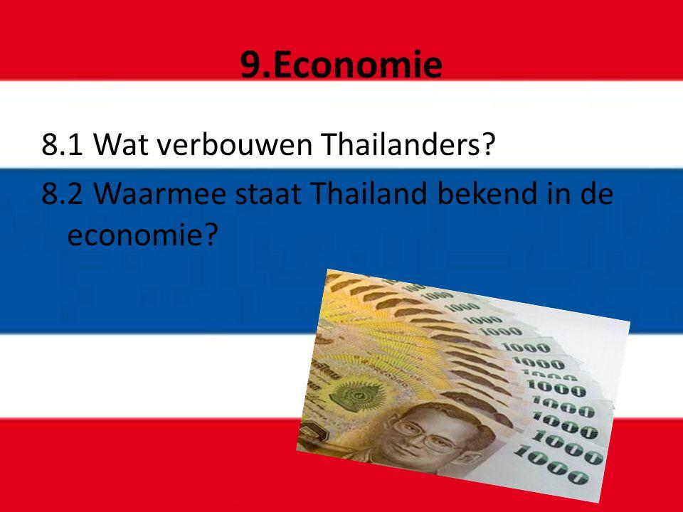 9.Economie 8.1 Wat verbouwen Thailanders