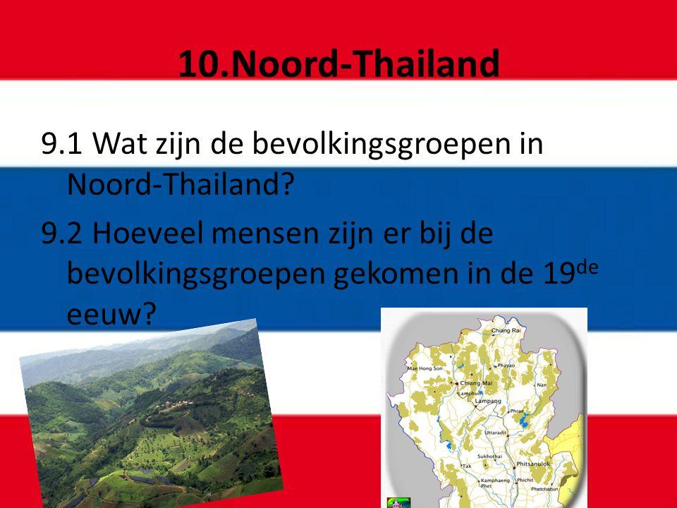 10.Noord-Thailand 9.1 Wat zijn de bevolkingsgroepen in Noord-Thailand