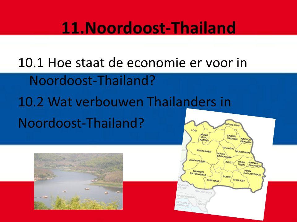 11.Noordoost-Thailand 10.1 Hoe staat de economie er voor in Noordoost-Thailand 10.2 Wat verbouwen Thailanders in.